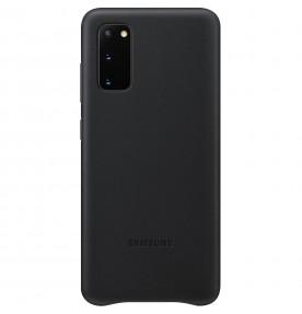 Husa Leather Cover pentru Samsung Galaxy S20, Black