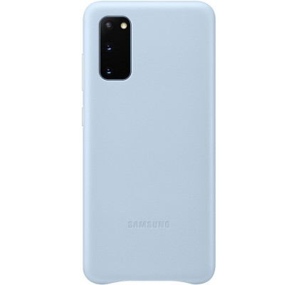 Husa Leather Cover pentru Samsung Galaxy S20, Blue