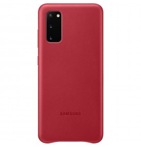 Husa Leather Cover pentru Samsung Galaxy S20, Red