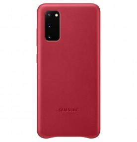 Husa Leather Cover pentru Samsung Galaxy S20, Red