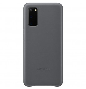 Husa Leather Cover pentru Samsung Galaxy S20, Gray