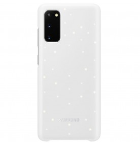 Husa LED Cover pentru Samsung Galaxy S20, White