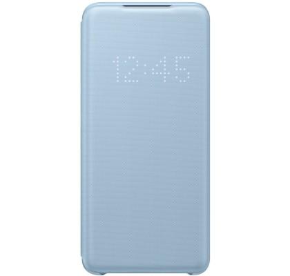 Husa LED View Cover pentru Samsung Galaxy S20, Blue
