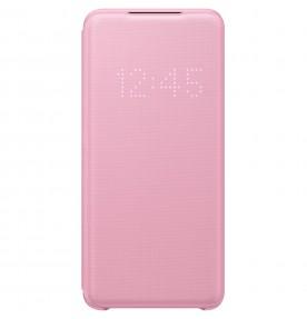 Husa LED View Cover pentru Samsung Galaxy S20, Pink
