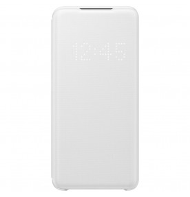 Husa LED View Cover pentru Samsung Galaxy S20, White