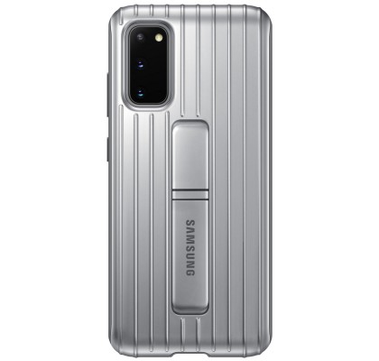 Husa Protective Standing Cover Samsung Galaxy S20, Silver
