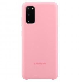 Husa Silicone Cover pentru Samsung Galaxy S20, Pink