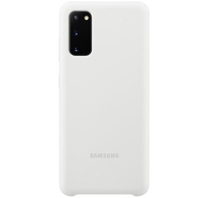 Husa Silicone Cover pentru Samsung Galaxy S20, White