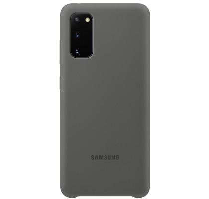 Husa Silicone Cover pentru Samsung Galaxy S20, Gray