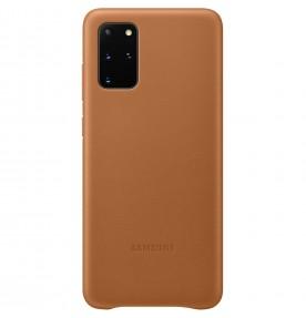Husa Leather Cover pentru Samsung Galaxy S20+, Brown