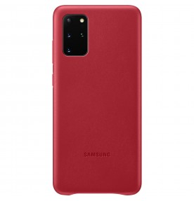 Husa Leather Cover pentru Samsung Galaxy S20+, Red