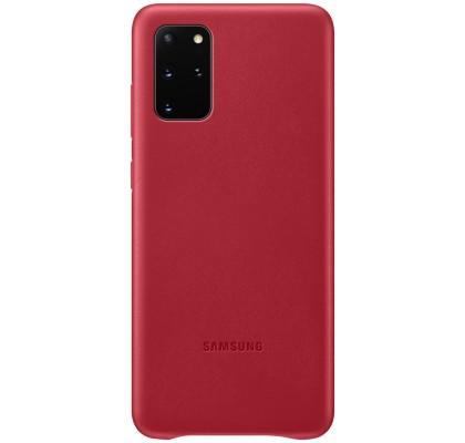 Husa Leather Cover pentru Samsung Galaxy S20+, Red