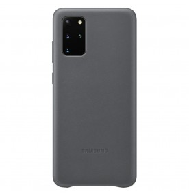 Husa Leather Cover pentru Samsung Galaxy S20+, Gray