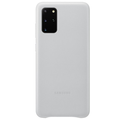Husa Leather Cover pentru Samsung Galaxy S20+, Light Gray