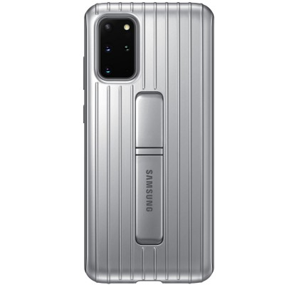 Husa Protective Standing Cover Samsung Galaxy S20+, Silver