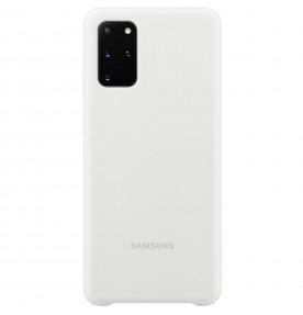 Husa Silicone Cover pentru Samsung Galaxy S20+, White