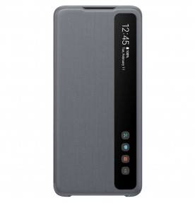 Husa Clear View Cover Samsung Galaxy S20 Ultra, Gray