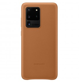 Husa Leather Cover pentru Samsung Galaxy S20 Ultra, Brown
