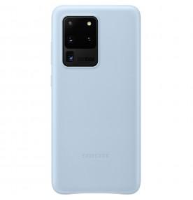 Husa Leather Cover pentru Samsung Galaxy S20 Ultra, Blue