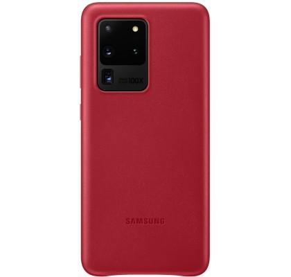 Husa Leather Cover pentru Samsung Galaxy S20 Ultra, Red