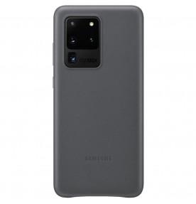 Husa Leather Cover pentru Samsung Galaxy S20 Ultra, Gray