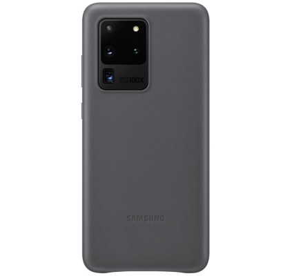 Husa Leather Cover pentru Samsung Galaxy S20 Ultra, Gray