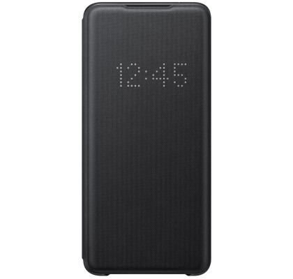 Husa LED View Cover pentru Samsung Galaxy S20 Ultra, Black