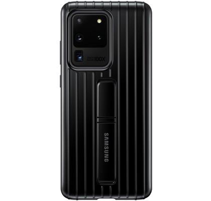 Husa Protective Standing Cover Samsung Galaxy S20 Ultra, Black