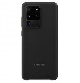 Husa Silicone Cover pentru Samsung Galaxy S20 Ultra, Black