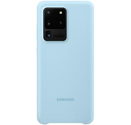 Husa Silicone Cover pentru Samsung Galaxy S20 Ultra, Blue