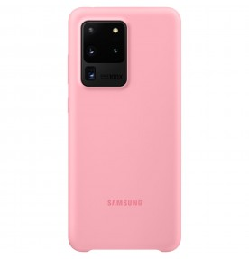 Husa Silicone Cover pentru Samsung Galaxy S20 Ultra, Pink