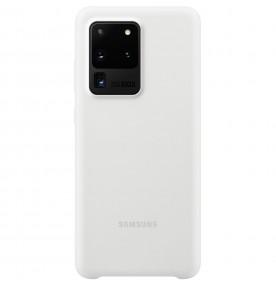 Husa Silicone Cover pentru Samsung Galaxy S20 Ultra, White
