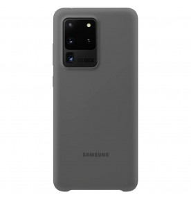 Husa Silicone Cover pentru Samsung Galaxy S20 Ultra, Gray