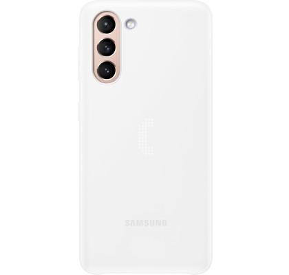Husa LED Cover pentru Samsung Galaxy S21, White