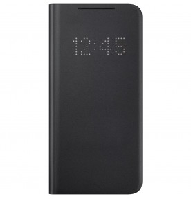 Husa LED View Cover pentru Samsung Galaxy S21, Black