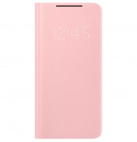 Husa LED View Cover pentru Samsung Galaxy S21, Pink
