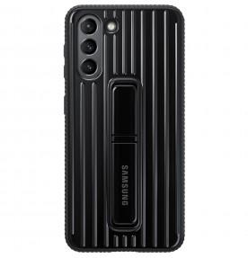 Husa Protective Standing Cover Samsung Galaxy S21, Black