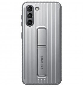 Husa Protective Standing Cover Samsung Galaxy S21, Light Gray