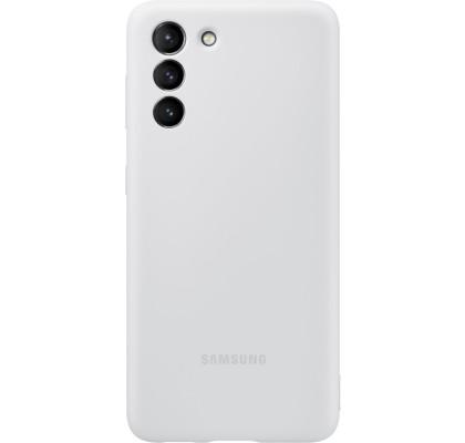 Husa Silicone Cover pentru Samsung Galaxy S21, Light Gray