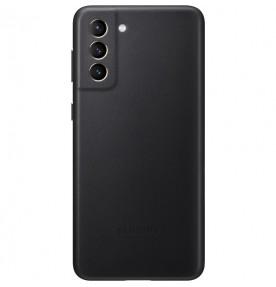Husa Leather Cover pentru Samsung Galaxy S21+, Black
