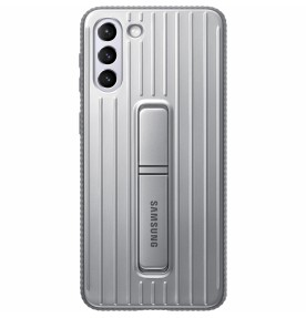 Husa Protective Standing Cover Samsung Galaxy S21+, Light Gray