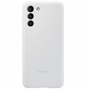Husa Silicone Cover pentru Samsung Galaxy S21+, Light Gray