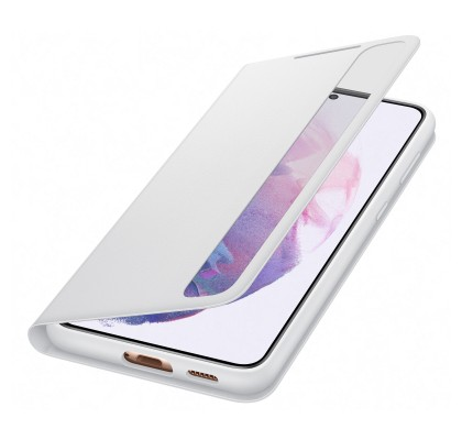 Husa Clear View Cover Samsung Galaxy S21 Plus, Light Gray