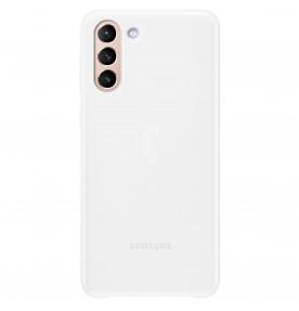 Husa Smart LED Cover pentru Samsung Galaxy S21 Plus, White