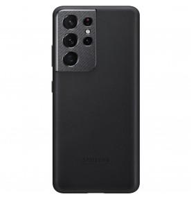 Husa Leather Cover pentru Samsung Galaxy S21 Ultra, Black