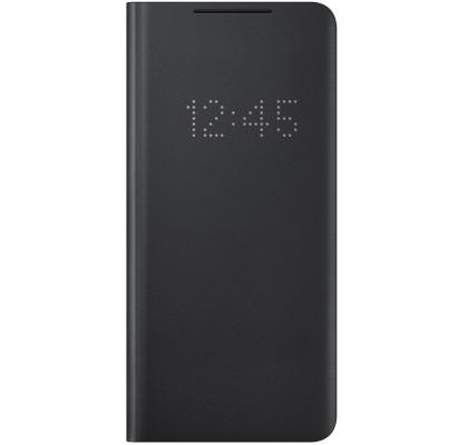 Husa LED View Cover pentru Samsung Galaxy S21 Ultra, Black