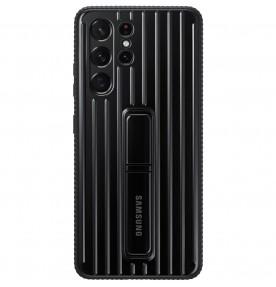 Husa Protective Standing Cover Samsung Galaxy S21 Ultra, Black