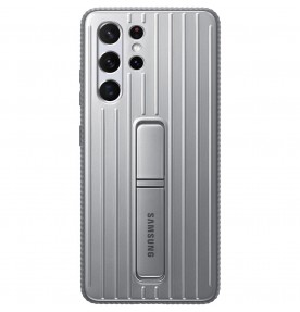 Husa Protective Standing Cover Samsung Galaxy S21 Ultra, Light Gray