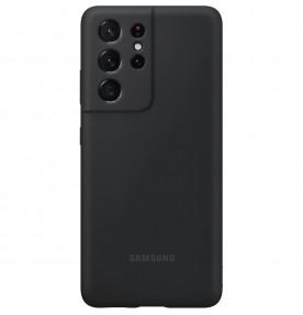 Husa Silicone Cover pentru Samsung Galaxy S21 Ultra, Black