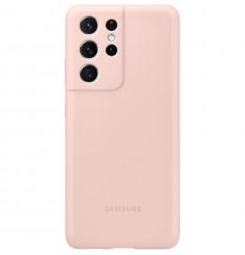 Husa Silicone Cover pentru Samsung Galaxy S21 Ultra, Pink